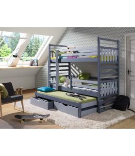 HIPOLIT łóżko 3 osobowe