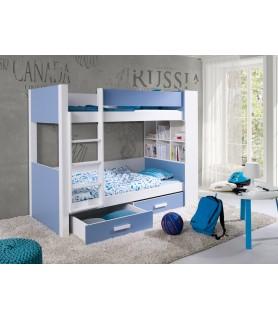 GASPAR łóżko piętrowe z regałem