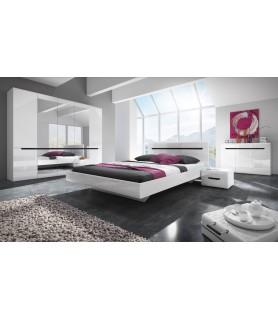 HEKTOR sypialnia - biały/biały połysk