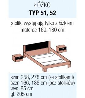 VERA - ŁÓŻKO 160/200 - ARCTIC PINE JASNY/ARCTIC PINE CIEMNY