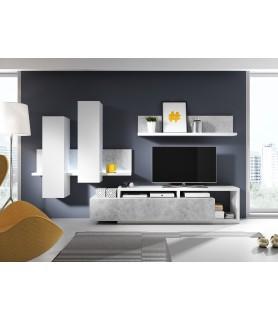 BOTA - meblościanka typ 09, biały / colorado beton