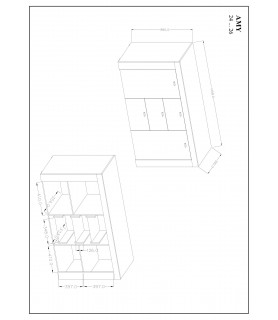 Komoda AMY typ 26 Satin nussbaum/ touchwood