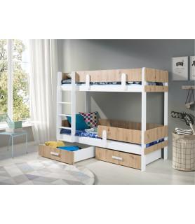 ETTORE dwuosobowe łóżko piętrowe dla dzieci