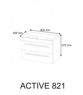 Szafka pod umywalkę 80 cm ACTIVE 821
