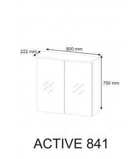 Szafka 80 cm z lustrem ACTIVE 841