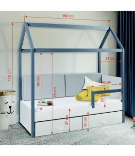 Łóżko 1 osobowe domek OFELIA II