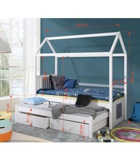 Łóżko domek 2 osobowe JONAS