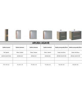 MEBLE ŁAZIENKOWE ARUBA AGAVE SET60 (800, 820, 841, UM-CFP 60D-DP)