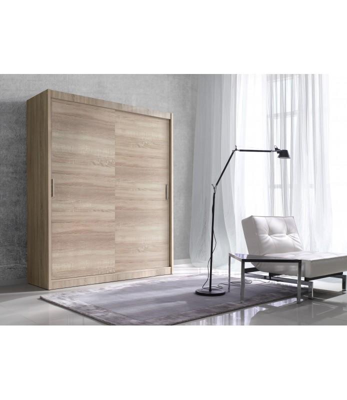 Szafa z przesuwanymi drzwiami 150 cm ALFA F01566 dąb sonoma jasny bez luster