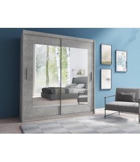 Szafa z drzwiami przesuwnymi 200 cm ALFA YL1578 beton colorado