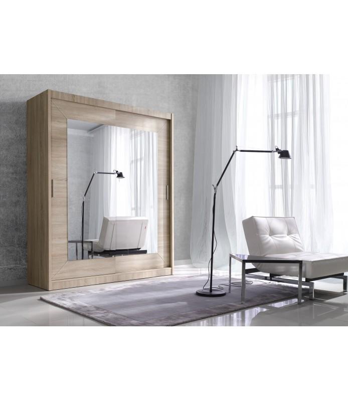 Szafa z przesuwanymi drzwiami 150 cm ALFA F01516 dąb sonoma jasny