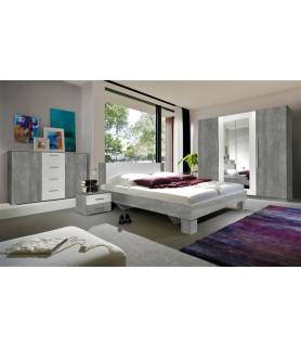 VERA sypialnia - beton Colorado/ beton Colorado - biały