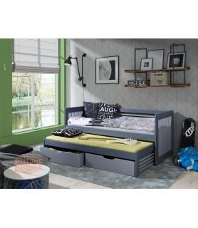 Anatol II - 2 osobowe łóżko z wysuwanym spaniem
