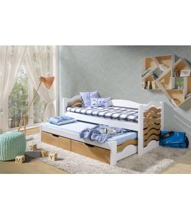 Mikołaj łóżko dwuosobowe z wysuwanym spaniem