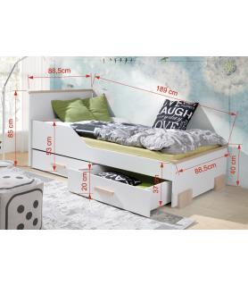 Bartosz piętrowe łóżko 2 osobowe dla dzieci